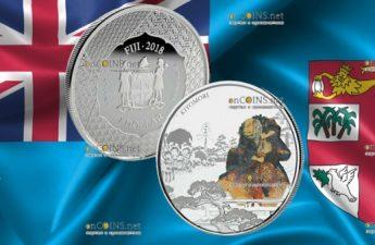 Фиджи монета 1 доллар Тайра-но Киёмори