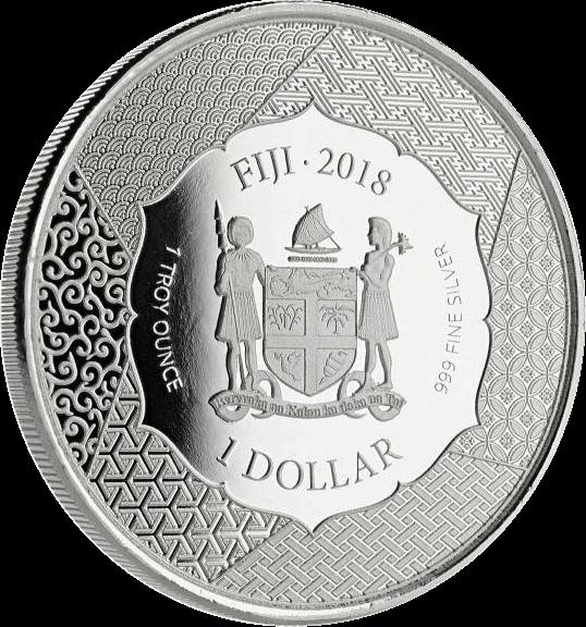 Фиджи монеты серии Архивы Самурая, аверс