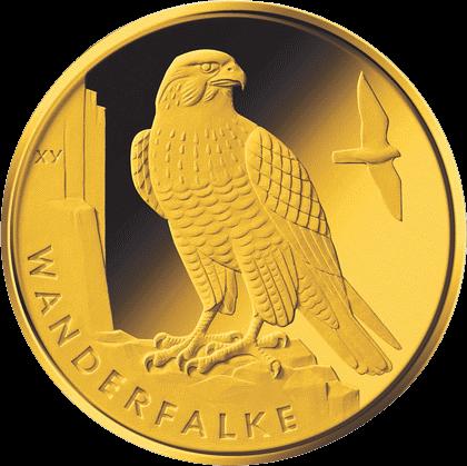 Германия монета 20 евро Сапсан, реверс