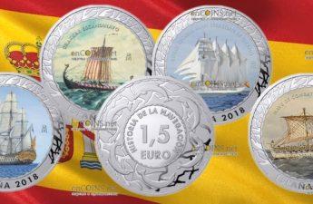 Испания серия монет История судоходства