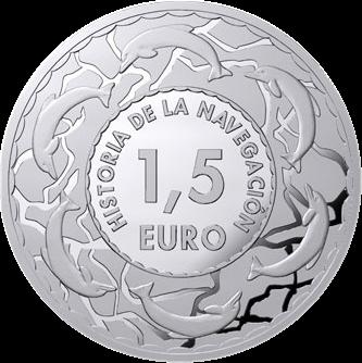 Испания серия монет История судоходства, аверс