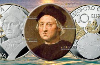 Италия монета 10 евро Христофор Колумб