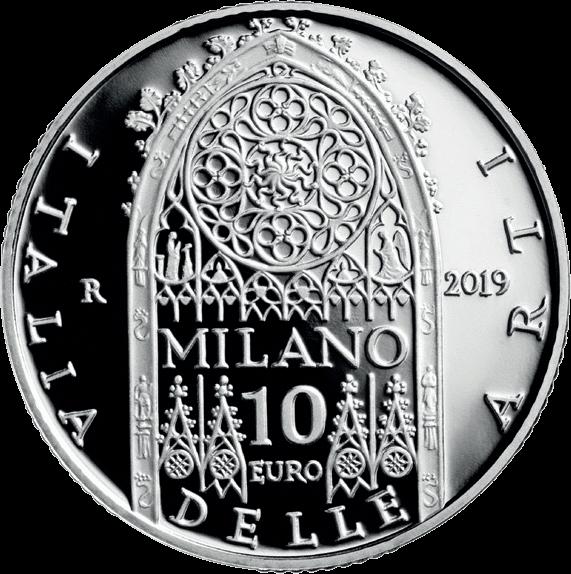 Италия монета 10 евро Ломбардия - Миланский собор, аверс