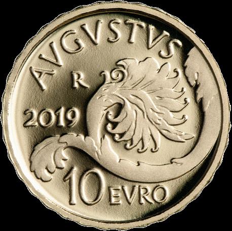 Италия монета 10 евро Октавиан Август, аверс
