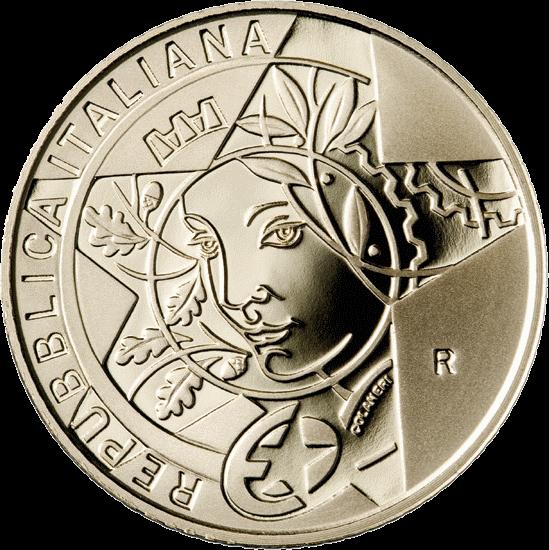 Италия монета 20 евро Эпоха Возрождения, реверс