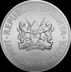 Кения ходовая монета 1 шиллинг 2018 года, аверс