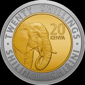 Кения ходовая монета 20 шиллингов 2018 года, реверс