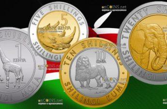 Кения серия ходовых монет Животный мир Кении, 2018