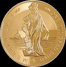 Мальта инвестиционная монета 100 евро Мелита, 2018 год, реверс