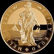 Мальта инвестиционная монета 50 евро Мелита, 2018 год, реверс