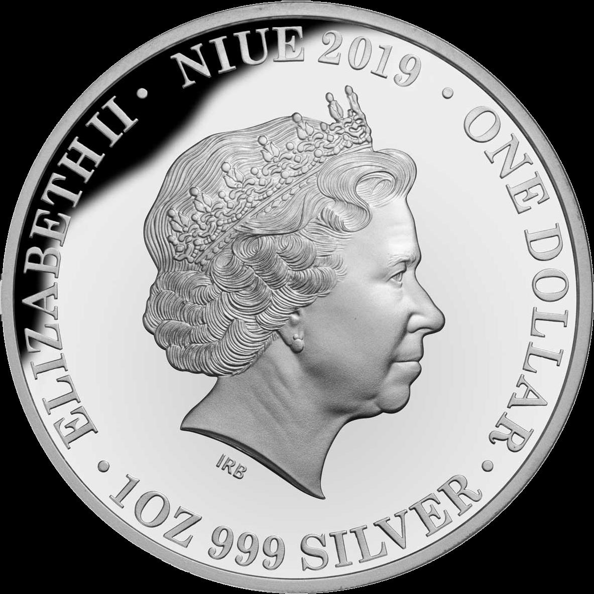 Ниуэ монета 1 доллар 40 лет окончания войны во Вьетнаме, аверс