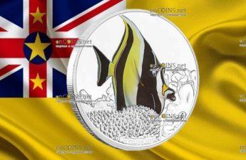 Ниуэ монета 2 доллара Рогатый занкл