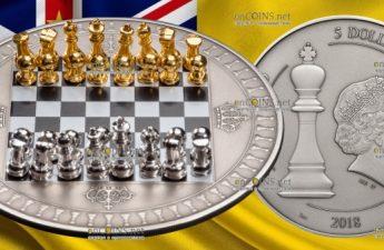 Ниуэ монета 5 долларов Шахматная доска