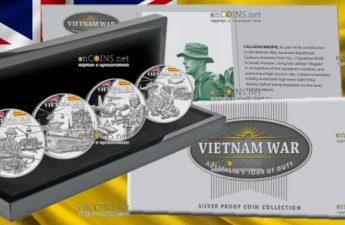 Ниуэ монеты серии 40 лет окончания войны во Вьетнаме, подарочная упаковка
