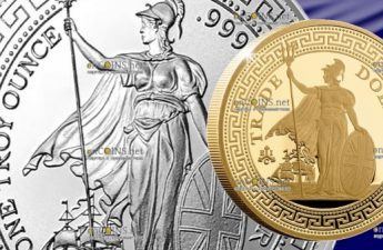 Остров Святой Еелены монета 2 фунта Британский Торговый доллар