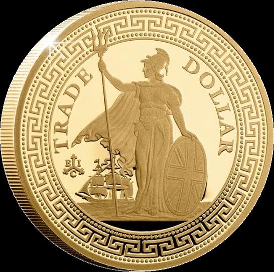 Остров Святой Еелены монета 2 фунта Британский Торговый доллар, реверс