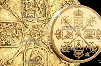 Остров Святой Еелены монета 2 фунта Гинея