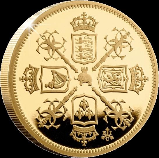 Остров Святой Еелены монета 2 фунта Гинея, реверс