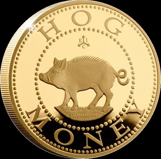 Остров Святой Еелены монета 2 фунта Hog Money, реверс