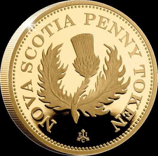 Остров Святой Еелены монета 2 фунта Новый Шотландский пенни, реверс