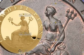 Остров Святой Еелены монета 2 фунта пении Колесо Телеги