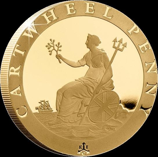 Остров Святой Еелены монета 2 фунта пении Колесо Телеги, реверс
