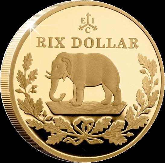 Остров Святой Еелены монета 2 фунта Рикс доллар, реверс