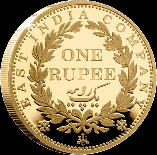 Остров Святой Еелены монета 2 фунта Рупия Восточно-Индийской Компании, реверс