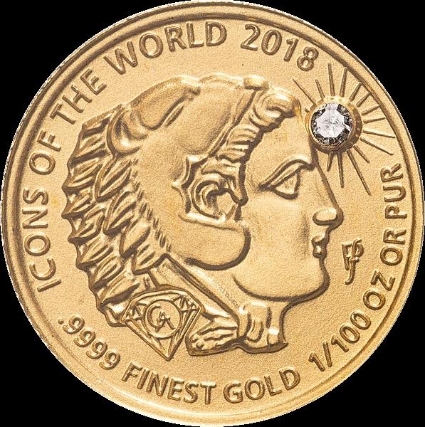 Руанда монета 10 франков Александр Великий с головой льва, 2018, реверс