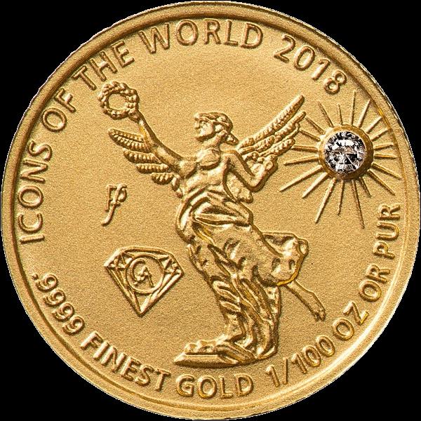 Руанда монета 10 франков Ангел Независимости, 2018, реверс