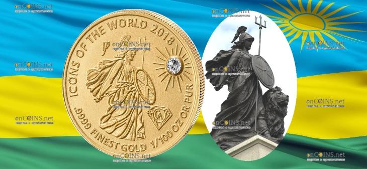 Руанда монета 10 франков Британия, 2018