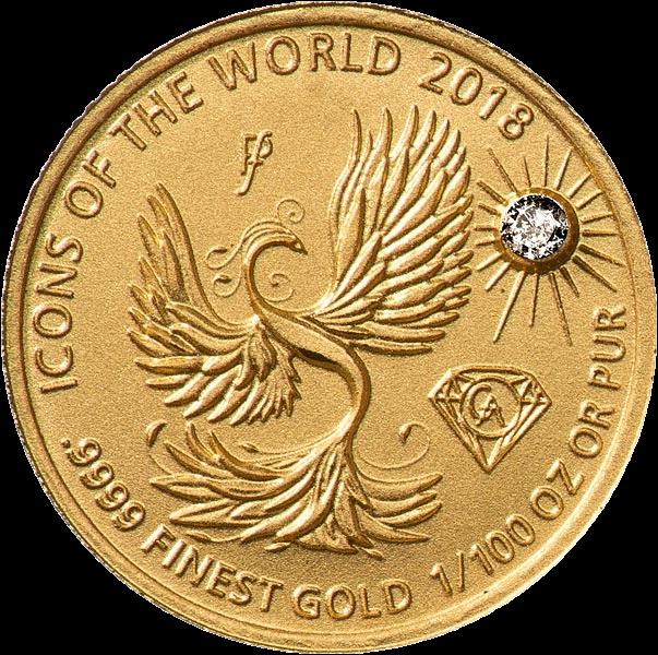 Руанда монета 10 франков Феникс, 2018, реверс