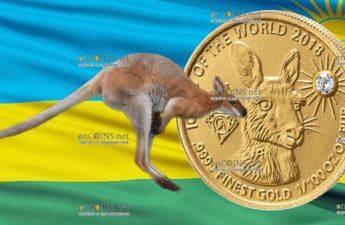 Руанда монета 10 франков Кенгуру, 2018