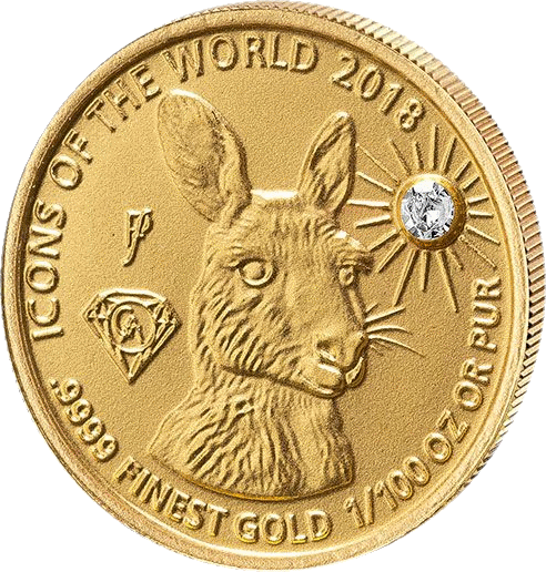 Руанда монета 10 франков Кенгуру, 2018, реверс