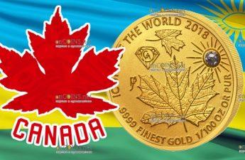 Руанда монета 10 франков Кленовый лист, 2018а