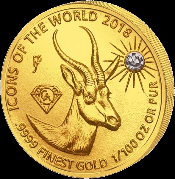 Руанда монета 10 франков Спрингбок, 2018, реверс