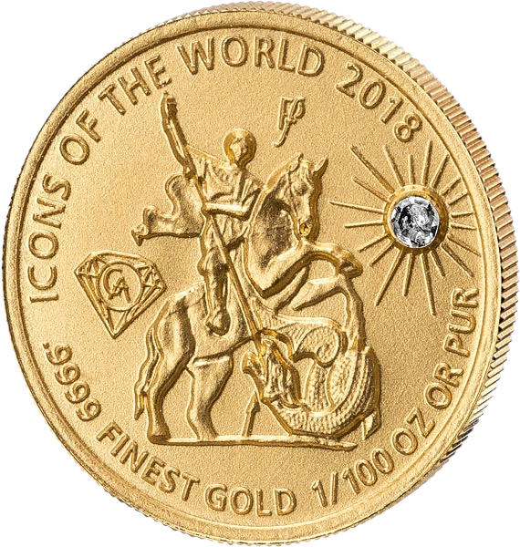 Руанда монета 10 франков Святой Георгий, 2018, реверс