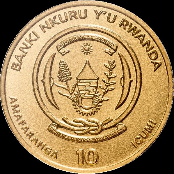 Руанда золотые монеты серии Доступное золото, 2018, аверс
