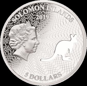 Соломоновы острова монета 5 долларов Кенгуру, аверс