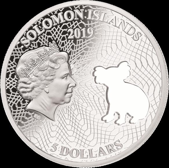 Соломоновы острова монета 5 долларов Коала, аверс