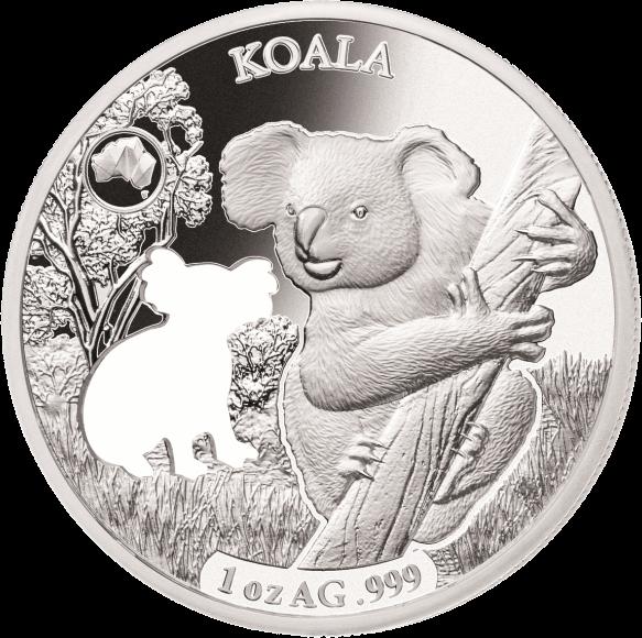 Соломоновы острова монета 5 долларов Коала, реверс
