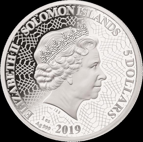 Соломоновы острова монета 5 долларов Силуэты Австралии, аверс