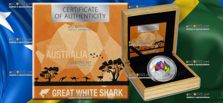 Соломоновы острова монета 5 долларов Силуэты Австралии, подарочная упаковка