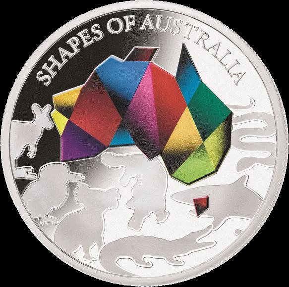 Соломоновы острова монета 5 долларов Силуэты Австралии, реверс