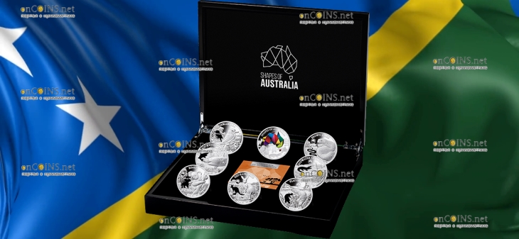 Соломоновы острова серия Силуэты Австралии, подарочная упаковка