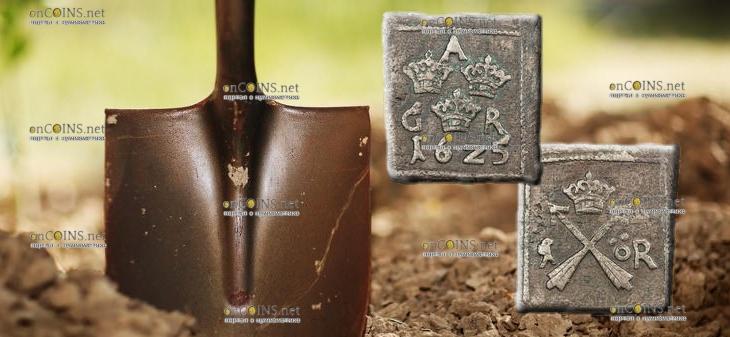 В Пскове археологи нашли медную монету-клиппу 1625 года