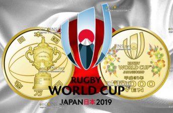 Япония монета 10 000 иен Чемпионат мира по регби 2019