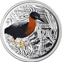 ЮАР монета 10 рандов Белобокая Кваква, реверс