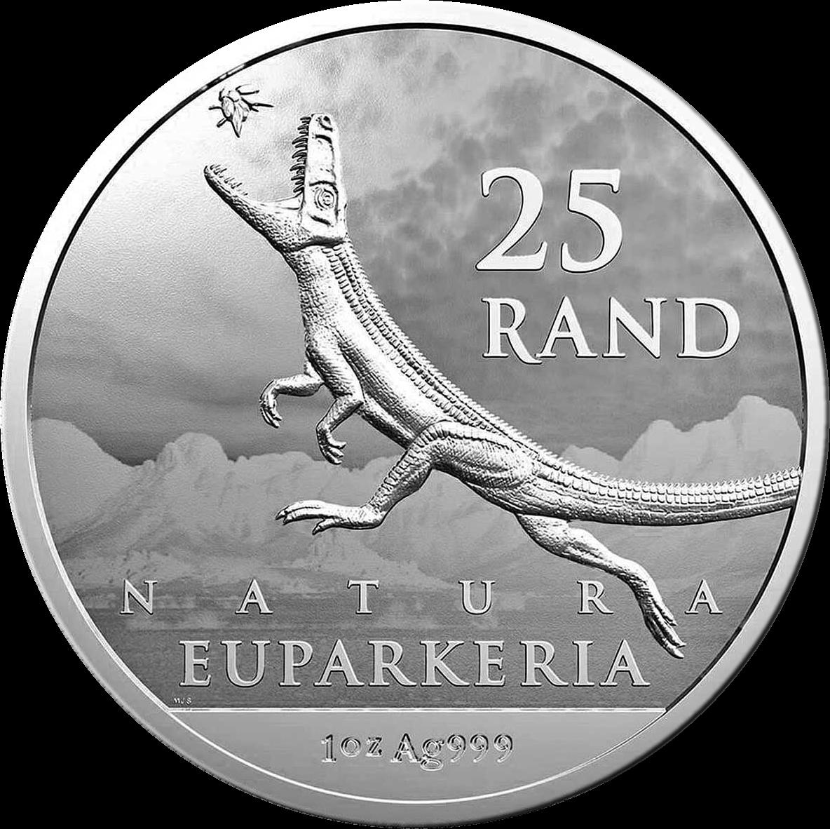ЮАР монета 25 рандов Эупаркерия, аверс