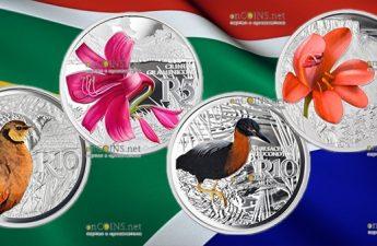 ЮАР монеты серии Ватерберхский биосферный резерват